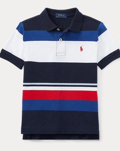 Striped Cotton Jersey Polo