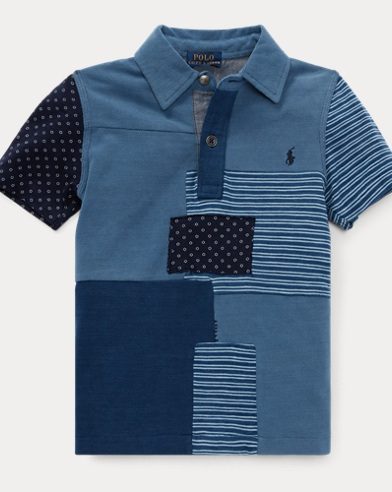 Patchwork Cotton Jersey Polo