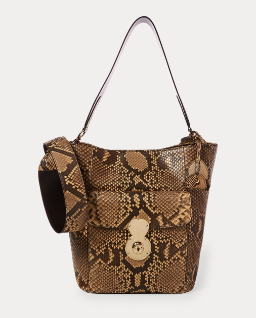 172ff03978 Ralph Lauren The Python RL Bucket Bag 1