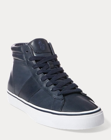 Shaw Calfskin High-Top Sneaker