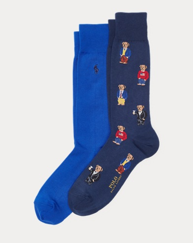 Bears & Solids Sock 2-Pack