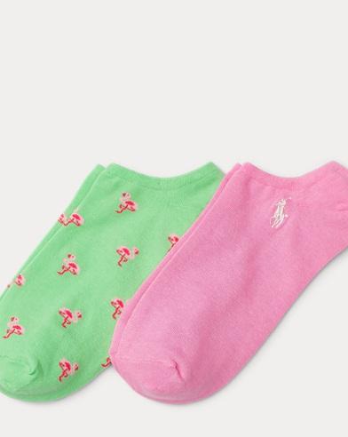 Due paia di calzini con fenicotteri