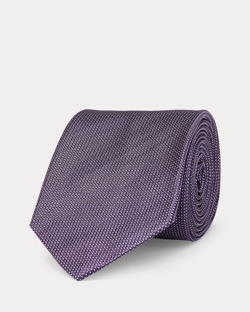 Cravate étroite petits points soie cc320193a5b