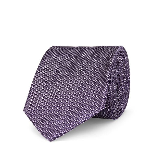 Ralph Lauren Pin Dot Silk Narrow Tie Purple One Size
