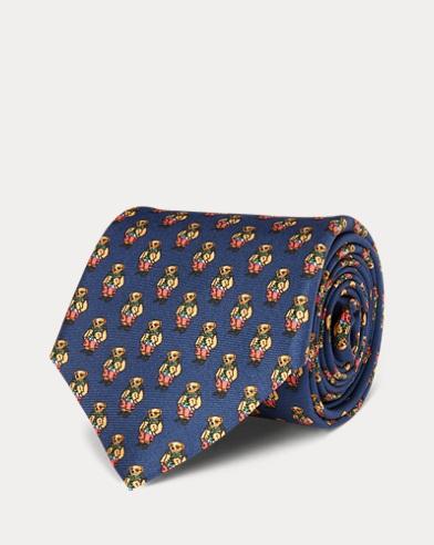 Polo Bear Silk Narrow Tie