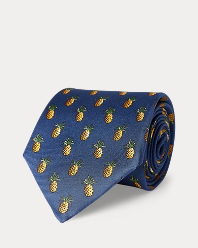 Pineapple Silk Narrow Tie