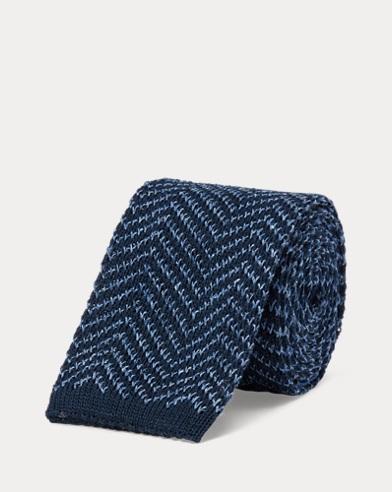 Melange Knit Silk-Linen Tie