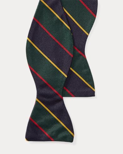 Striped Silk Repp Bow Tie