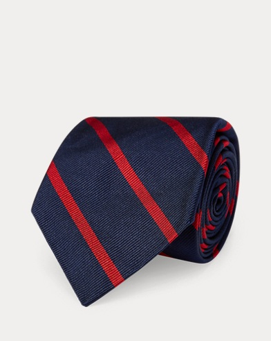 Striped Silk Repp Narrow Tie