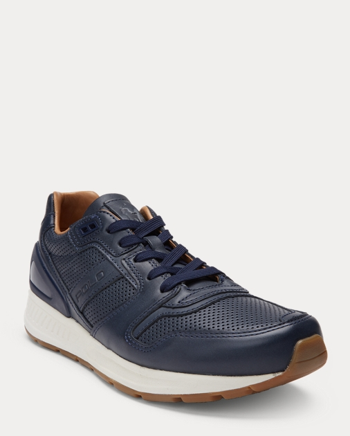 Uk Lauren 100 Ralph Sneaker Leather Train wX6gqfPS