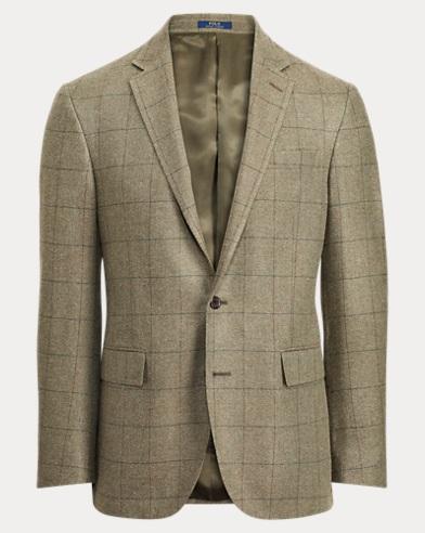 Polo Windowpane Suit Jacket