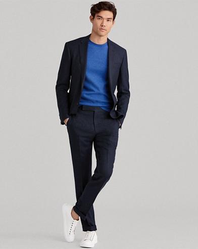 Polo Windowpane Birdseye Suit