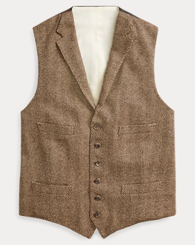 Herringbone Wool-Silk Vest