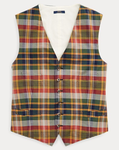 Cotton Madras Vest