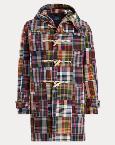 Patchwork Madras Duffel Coat