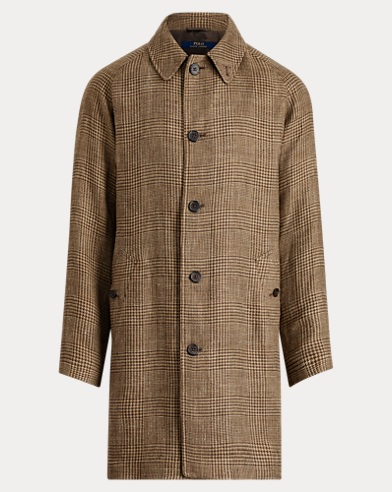 Glen Plaid Balmacaan Topcoat