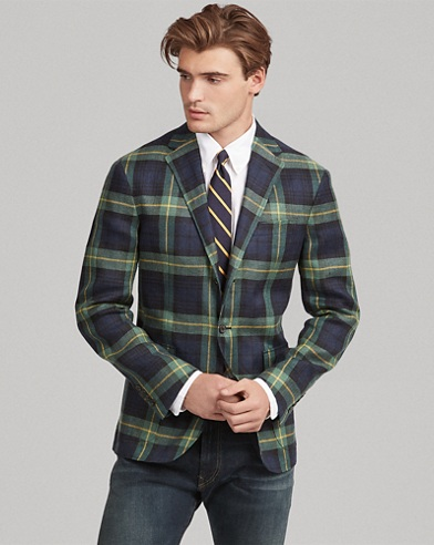 Morgan Tartan Linen Sport Coat