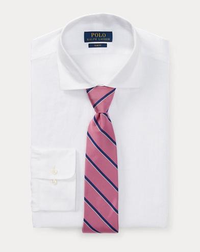 Slim-Fit Anzughemd aus Leinen