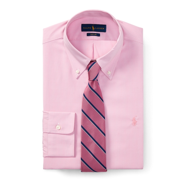 Ralph Lauren Classic Fit Gingham Shirt 2247B Pink/White 14.5