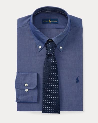 Classic-Fit-Anzughemd aus Baumwolle