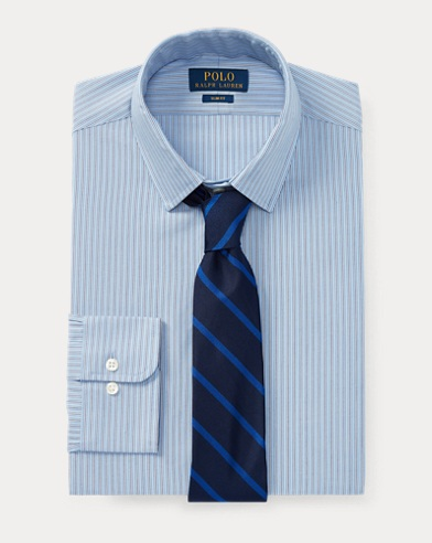 Slim-Fit Oxfordhemd mit Streifen