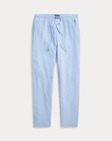 Knit Cotton Oxford Sleep Pant
