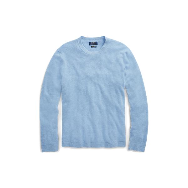 Ralph Lauren Cashmere Crewneck Sweater Jamaica Heather L