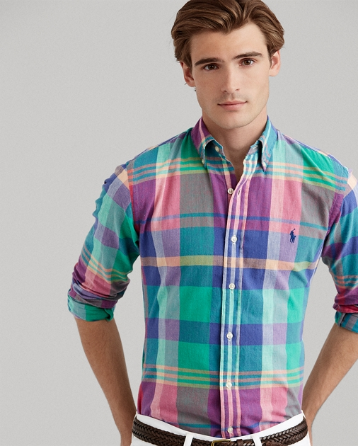 Classic Fit Madras Shirt b7ef1956b800