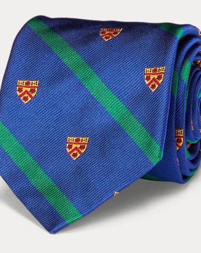 Striped Silk Narrow Club Tie
