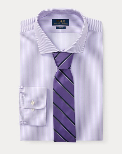 Slim Fit Striped Dobby Shirt