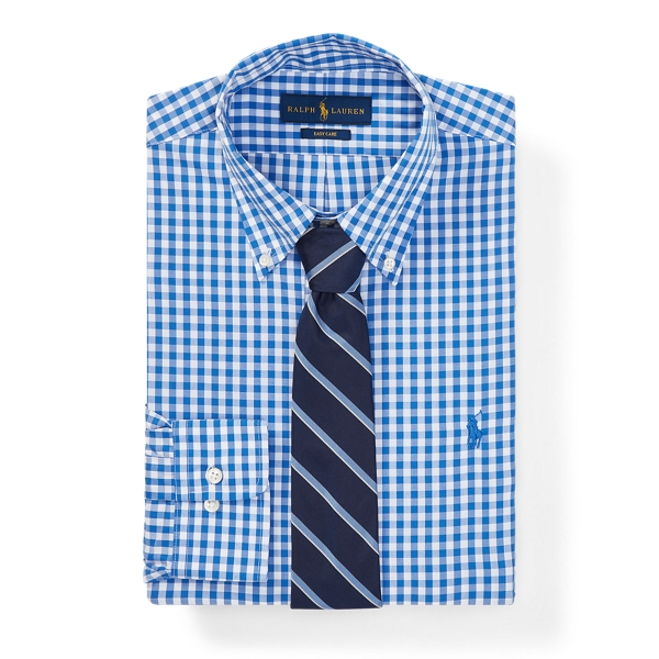 Ralph Lauren Classic Fit Gingham Shirt 2255 Cobalt/White 17