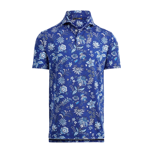Ralph Lauren Custom Slim Fit Stretch Polo French Navy Floral Xl