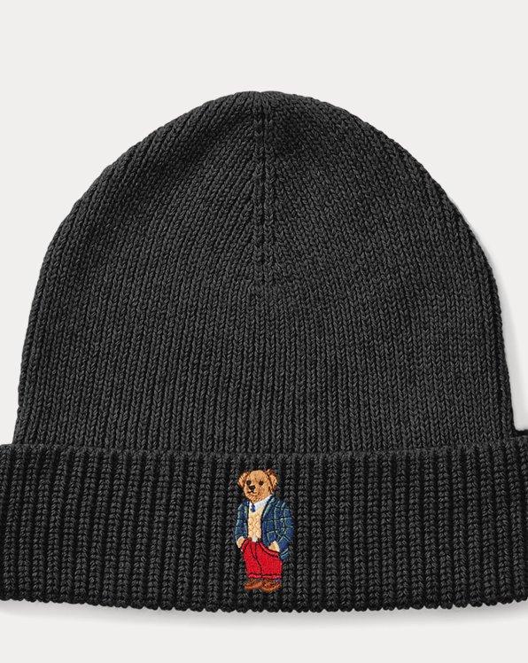Tartan Polo Bear Ribbed Hat