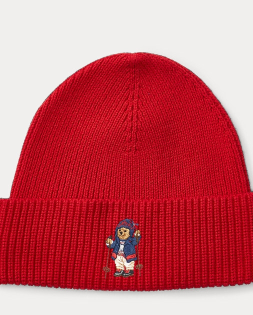 d205a56663ce0 Polo Ralph Lauren Skier Polo Bear Ribbed Hat 1