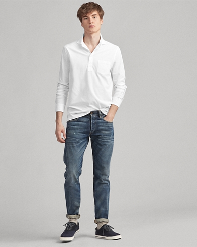 Custom-Slim-Fit Piqué-Hemd
