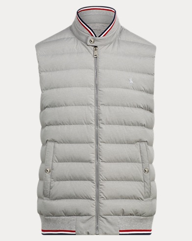 Down-Panel Double-Knit Vest