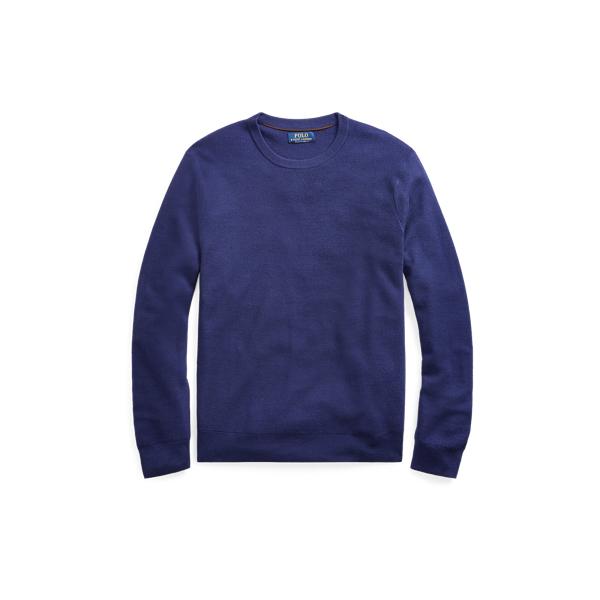 Ralph Lauren Merino-Silk-Cashmere Sweater Fall Royal L
