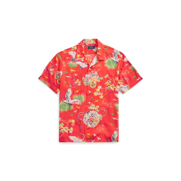 Ralph Lauren Classic Fit Camp Shirt Crane Hawaiian S