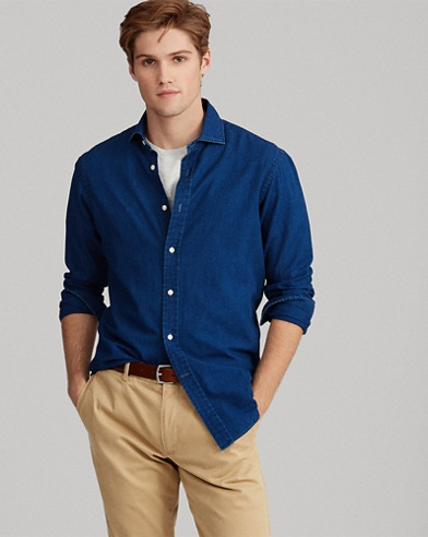 Classic Fit Indigo Twill Shirt