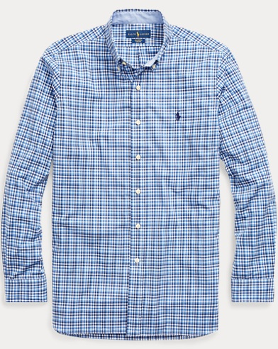 Slim Fit Plaid Poplin Shirt