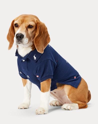 Polo brodé pour chien