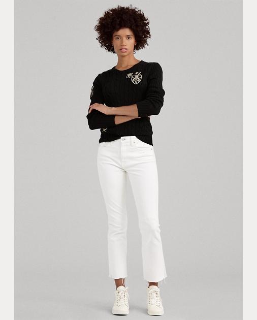 Polo Ralph Lauren Chrystie Kick-Flare Crop Jean 1
