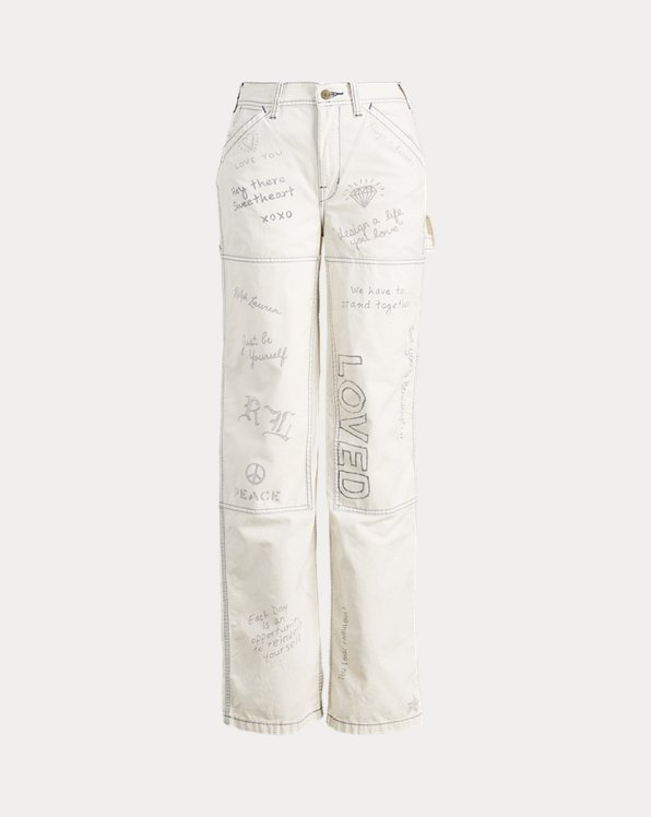 Graffiti Wide-Leg Pant