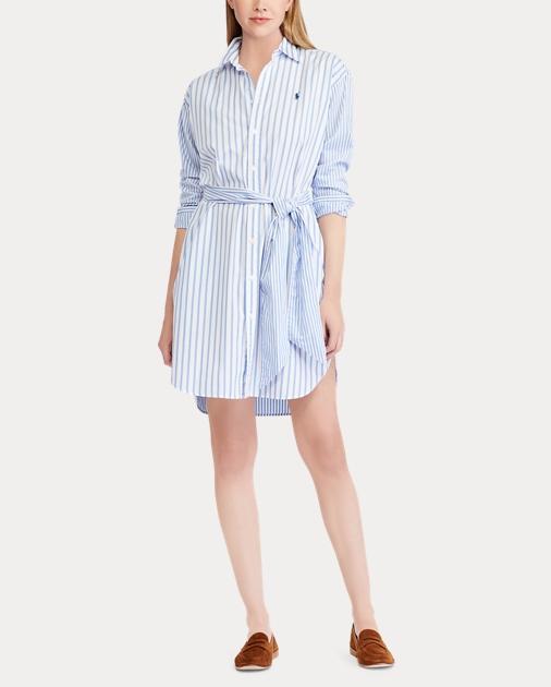 Cotton Cotton Shirtdress Shirtdress Shirtdress Striped Striped Striped Cotton T31FclKJu5