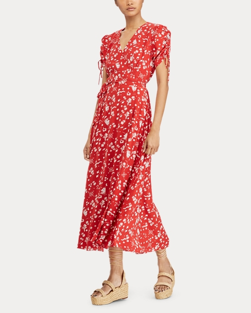 4e70e8ec798 Polo Ralph Lauren Print Crepe Wrap Dress 3
