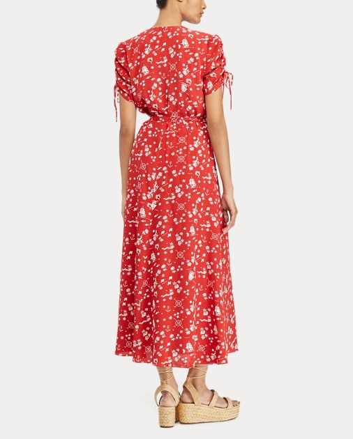 4af17599097 Polo Ralph Lauren Print Crepe Wrap Dress 4