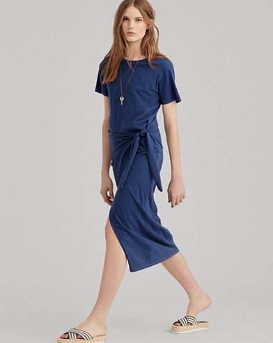 Side-Tie Jersey Maxidress