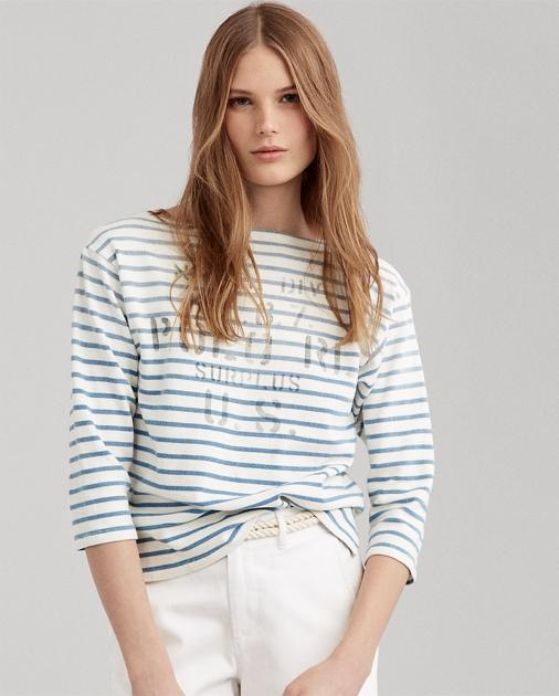Shirt Striped Striped Striped T Shirt Boatneck T Boatneck c3uTF1JlK