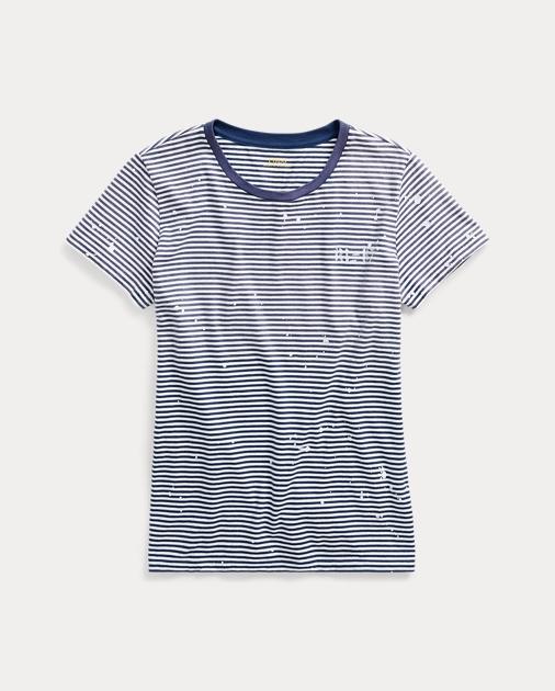 Paint Striped Striped Splatter T Splatter Shirt Paint Shirt T F1cJTlK