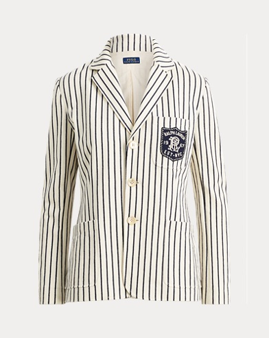 Striped Cotton Knit Blazer